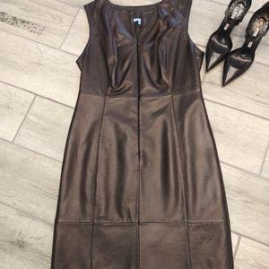 Antonio melanie leather dress sz 10